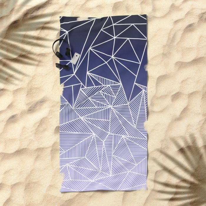 'Bayo Rays' Towel by Fimbis | Society6 . . beach, bath towel, design, fashion, summer, gradient, purple, lilac, white, fashionista, summer, holidays, vacation,