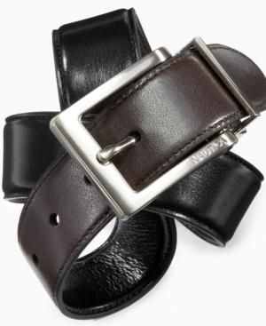 Nautica Kids Belt, Boys Reversible Belt Kids BOYS - Boys 8-20 For now, the only belt he needs: Reversible leather belt from Nautica with a classic squared buckle. More Details