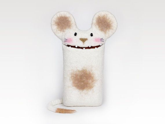 Wool Mouse case for Apple Magic Mouse  handmade by EthicStyle