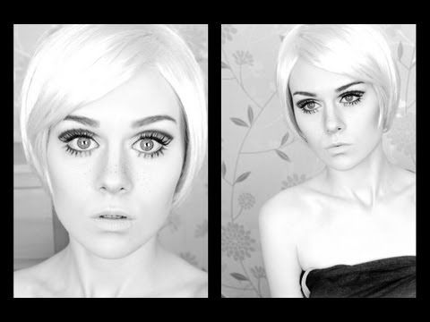Twiggy 60's Mod Inspired Makeup Tutorial  Twiggy was the most famous petit model of the 60's....Try out this look very mod...& beautiful!  Way to go Emma Pickles... follow her on YouTube...she has a great imagination!