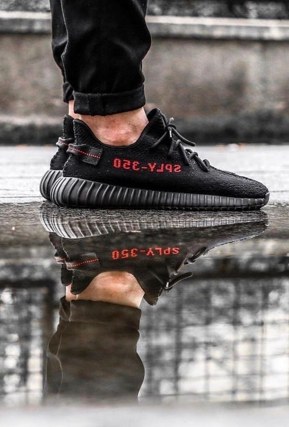 05790a5d5 Mens size Adidas Yeezy Boost 350 V2 Core Black Red   Bred fake sneakers