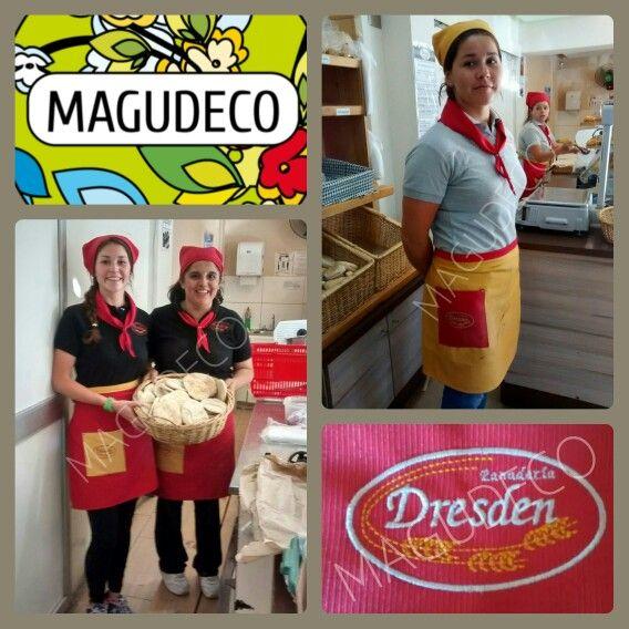 Mandiles pañuelos y bordados #panaderiadresden