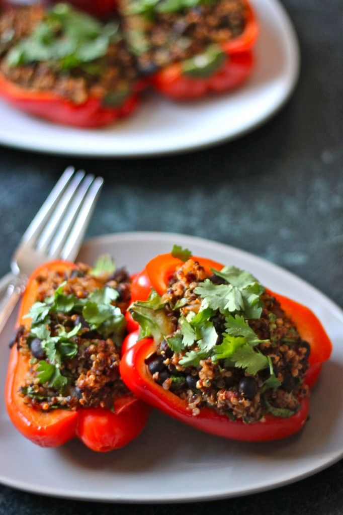 Vegan Quinoa Stuffed Peppers | TheCornerKitchenBlog.com