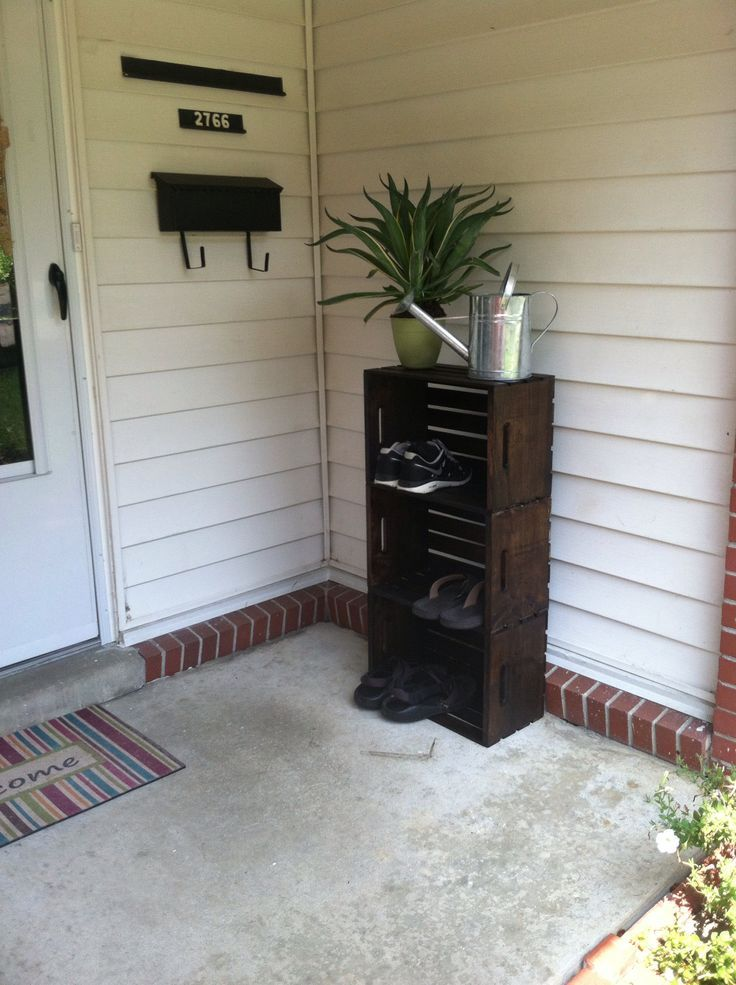 Charming Outdoor Shoe Storage | Outdoor Shoe Storage