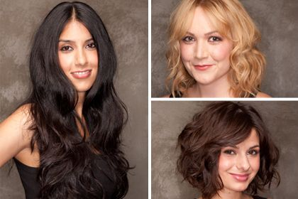 How to get tousled, wavy hair, whether it's short, medium length, or long. Click through for the how-tos.