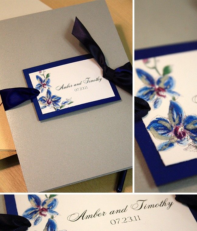 This ribbon is the perfect color and I love the hand-painted flowers.