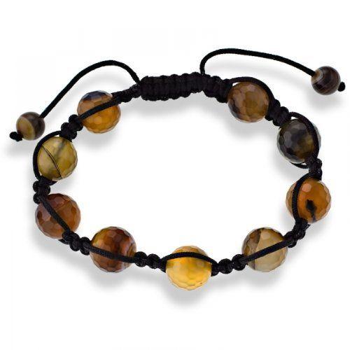 12mm Brown Bead Black Macrame Adjustable Shamballa Bracelet The Royal Gift. $14.97. Brown 12mm beads. Black macrame adjustable bracelet