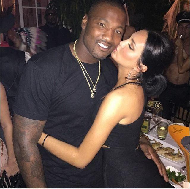 Natalie Halcro with her NFL player boyfriend Shaun Phillips