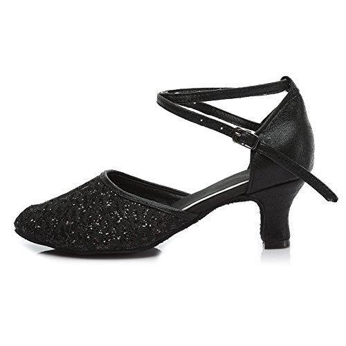 Oferta: 25.99€ Dto: -27%. Comprar Ofertas de HROYL Zapatos de baile/Zapatos latinos de el negro Leather mujeres EM5-18026 EU 38 barato. ¡Mira las ofertas!