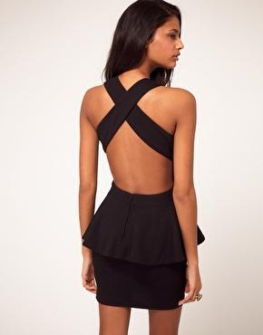 backless: Dresses Style, Backless Dresses, Parties Dresses, Asos Peplum, Graduation Dresses, Little Black Dresses, Cut Outs, Open Back, Peplum Dresses