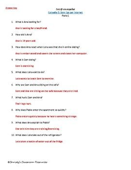 Extr@ en español Episode 3 Section 1 Summary with questions (Spanish ...