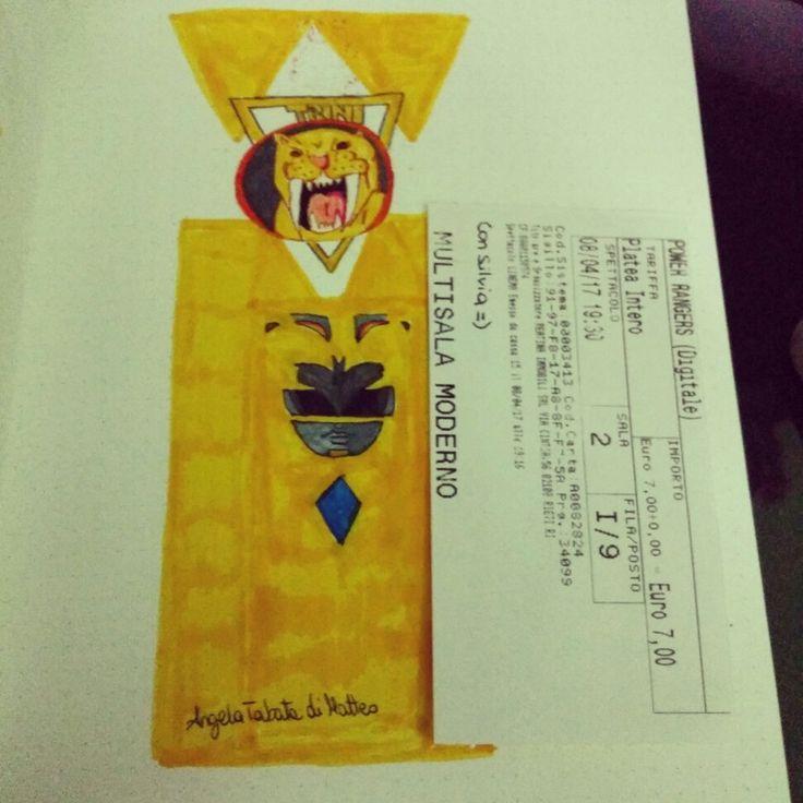 Yellow Ranger Trini #drawing #illustration #powerrangers #beckyg