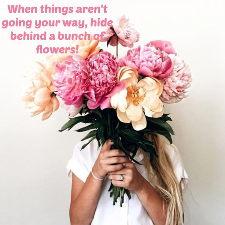 Flowers usually solve the problem!