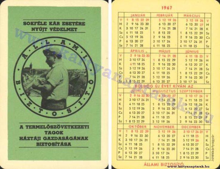 1967 - 1967_0125 - Régi magyar kártyanaptárak