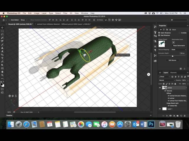 45 Adobe Photoshop Cc 3d Desgin Draw Animal Part2رسم مجسم ثلاثي الابعاد في الفوتوشوب Map Map Screenshot Youtube