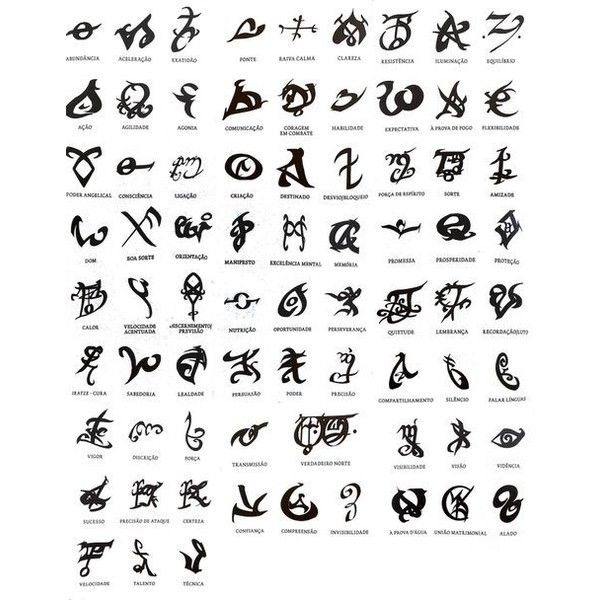 Shadowhunter Runes liked on Polyvore featuring
