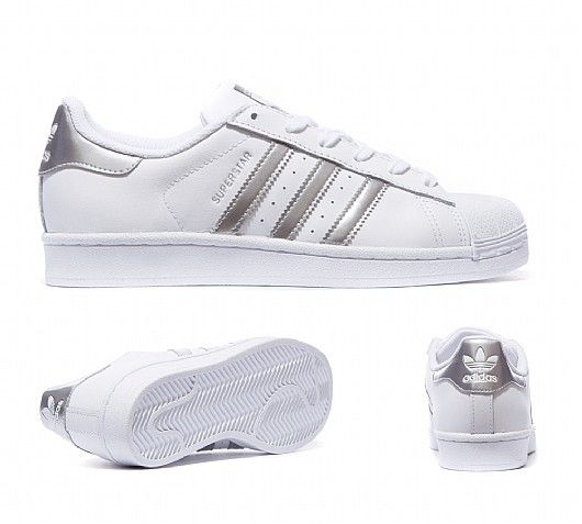 adidas Originals Womens Superstar Metallic Trainer | White / Metallic Silver | Footasylum