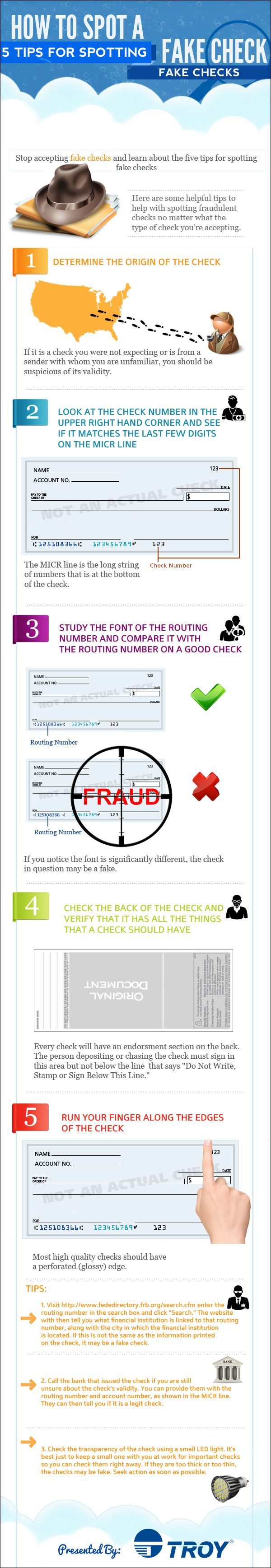17 best infographics small business marketing images on pinterest 5 ways to identify a fake check fandeluxe Gallery