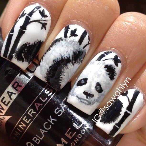Panda Nail Art: Best 25+ Panda Nail Art Ideas On Pinterest