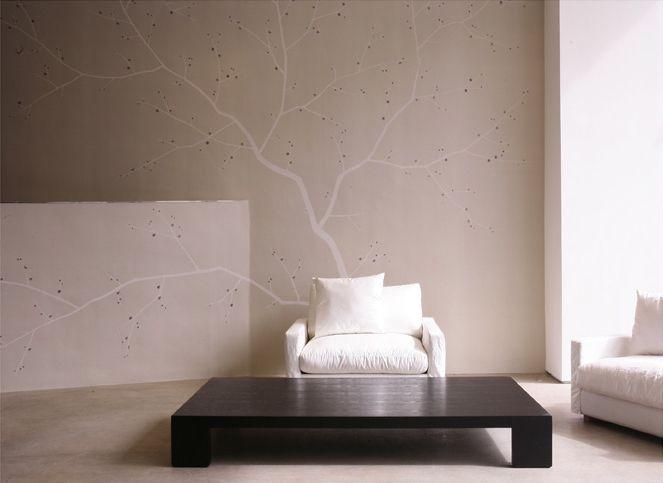 Cherry blossom fromental bedroom headboard wall idea for Cherry blossom bedroom ideas