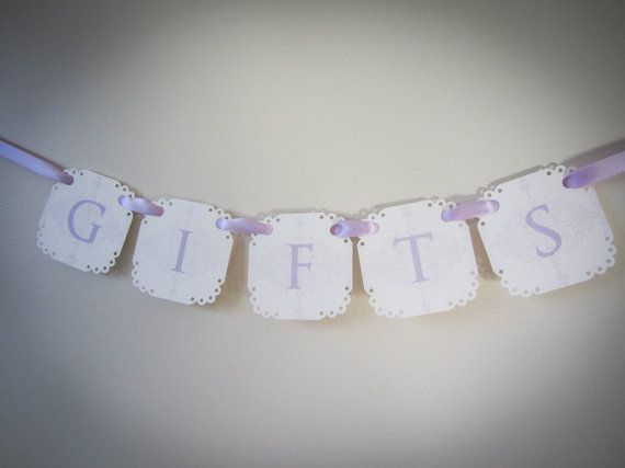 Gifts Mini Banner for Wishing Well... Paper by CreativePapier, $10.00