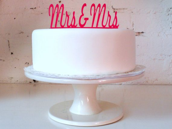 Mrs & Mrs Civil Partnership / Lesbian Wedding by MissSarahCake, $21