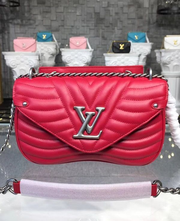 Louis Vuitton New Wave Chain Bag MM Red M51943  discountdesignerbags ... c7ad21bff6031