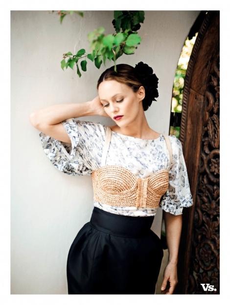 French model, singer and actress Vanessa Paradis in Rützou
