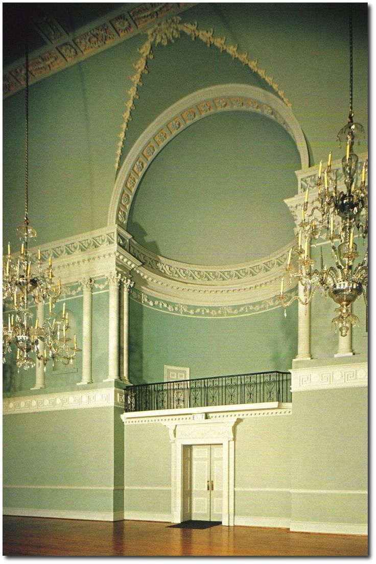Ballroom of the Assembly Rooms in Bath