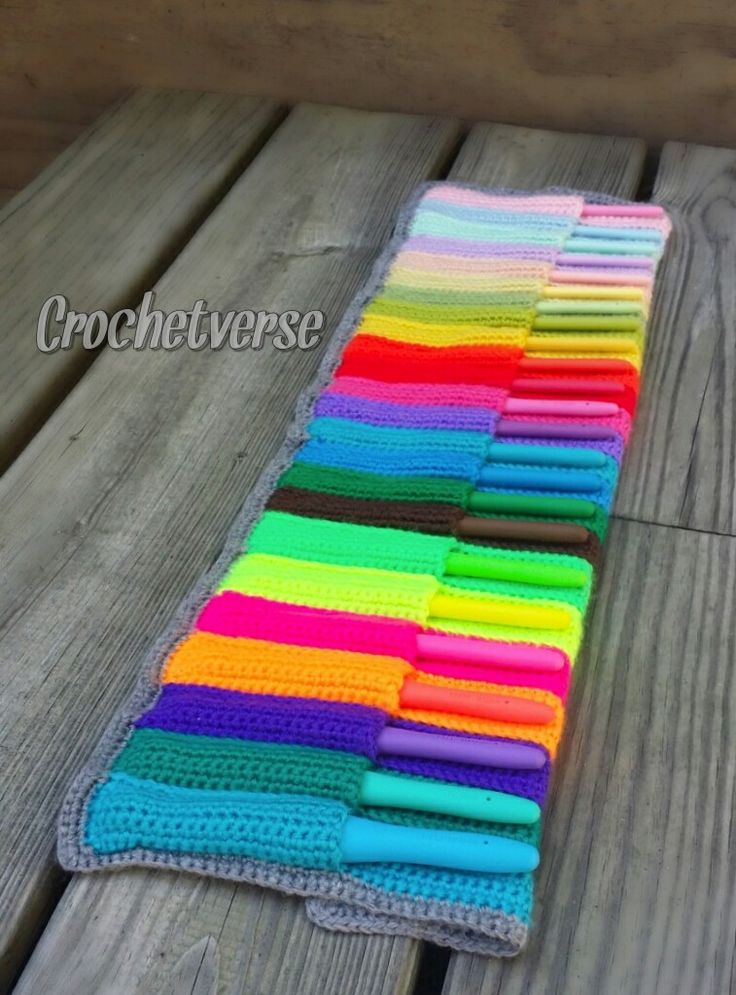 Crochet Hook Case By Crochetverse - Free Crochet Pattern - (crochetverse)