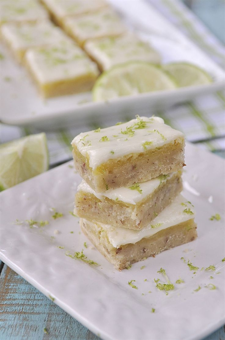 These layered bars are bursting with powerful lime flavor. Get the recipe at Your Home Based Mom.   - CountryLiving.com