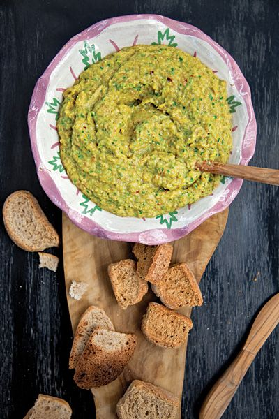 Eggplant and Parsley Dip (Melintzanosalata) | Chiles lend heat to this smoky dip from Kea, Greece. #vegan