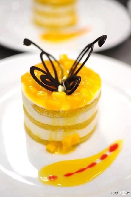 Creatividad Gastronomica -  Dessert papillon - Mariposa de postre