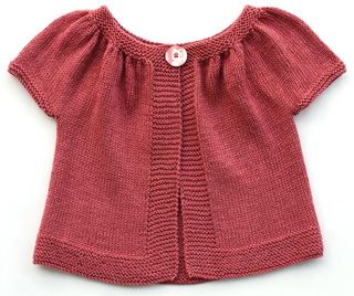 Cardigan with gathered sleeves in sizes 2/4/6/8/10 and 12 years