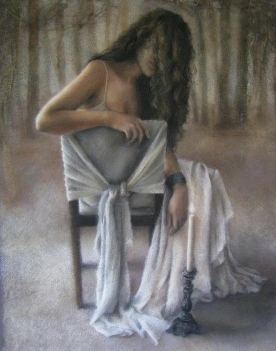 О, небо, небо, ты мне будешь сниться; Не может быть, чтоб ты совсем ослепло #art Anny Maddock