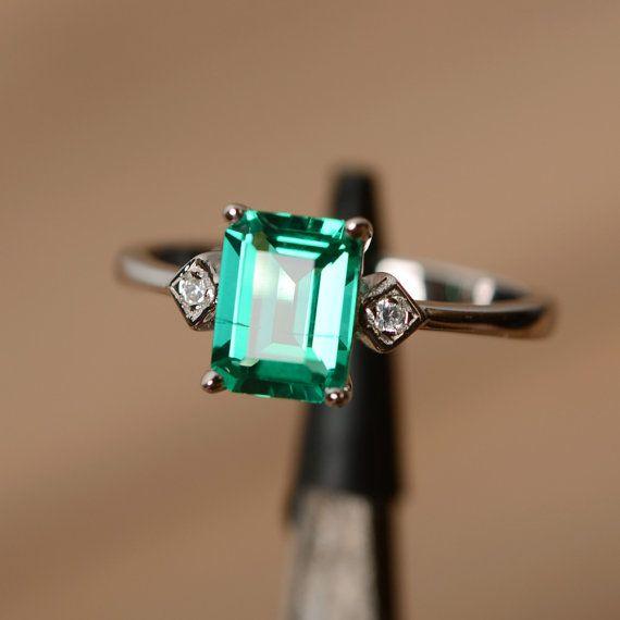 Peut naissance émeraude pierres précieuses argent par godjewelry