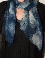 chiffon sjaal blauw