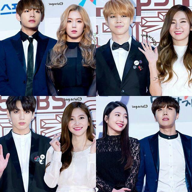 #RedVelvet #BTS #Joy #JHope #V #Irene #Yeri #Jungkook #Seulgi #Jimin