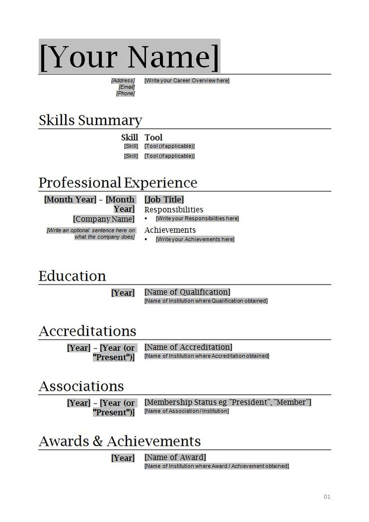 sample resume format word resume format and resume maker ryan - sample resume format word