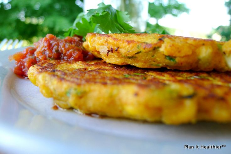 These Sweet Potato Corn Cakes are simple to make, yet packed with flavor! #KidsCookMonday
