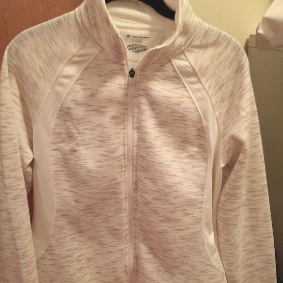 White and cream zip up sweatshirt. Brand new Brand new without tags. Cream and white zip up. Has thumb holes in the sleeves. Tops Sweatshirts & Hoodies