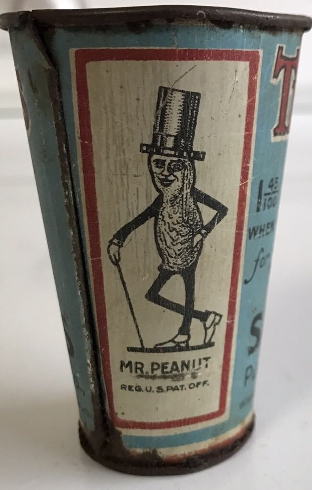 Planters Peanuts Tin Litho Measuring cup 3""