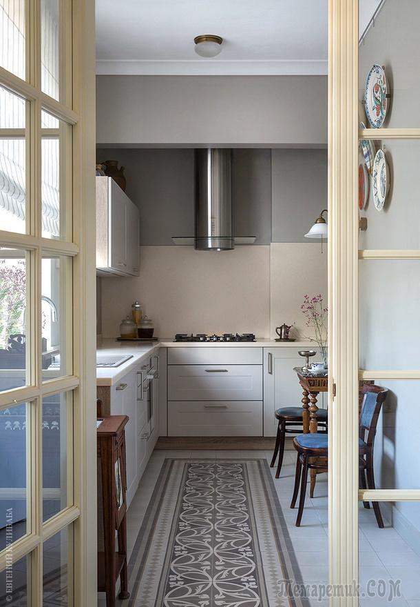 468276a791c6 Квартира в духе старой Москвы в трёхэтажном доме   3 интерьер кухни    Маленькая кухня, Кухня и Дом