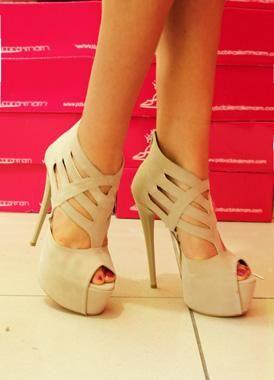 Bej Trendy Platform Topuklu Ayakkabı