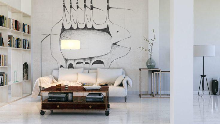 #salon #grafika #naścianę  #tapeta  #FREZO #Michałek #JacekTryc #tryc #architekt #wnętrza warszawa, #projektowanie  #interiors #design, #aranżacja  #wall #wallpaper
