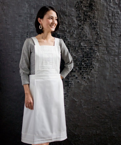 monocolor apron - white  http://shop.giverny-home.com/?pid=52099445