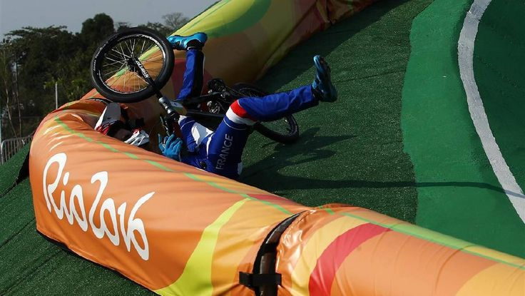 Crashes have been a constant on the Rio BMX track since the discipline started.   (1200×677)