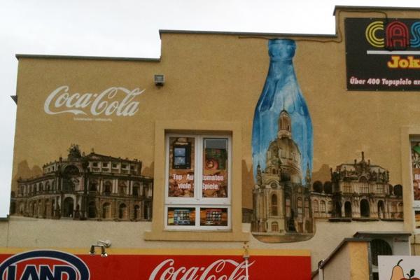 #graffitimalerei in #dresden für #cocacola #artist: #artmos4