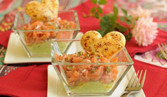 Vasitos de salmón y palta