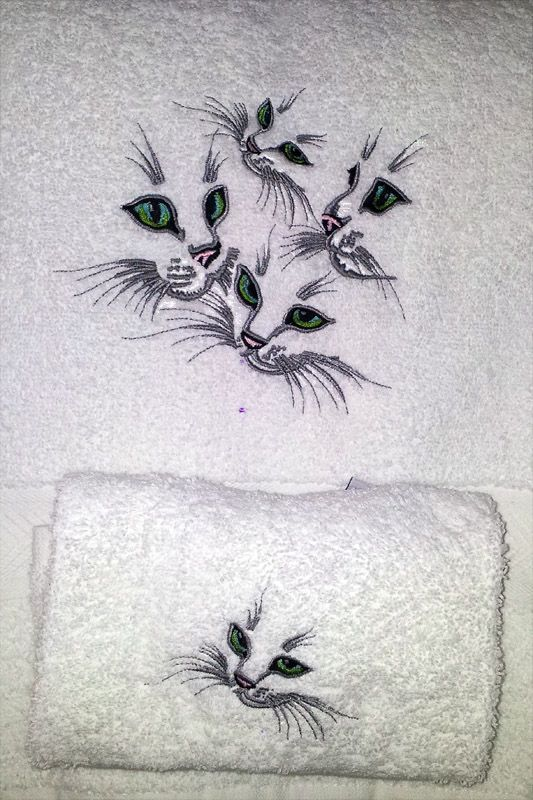 Occhi di gatto ♥! Embroidery Library Designs.